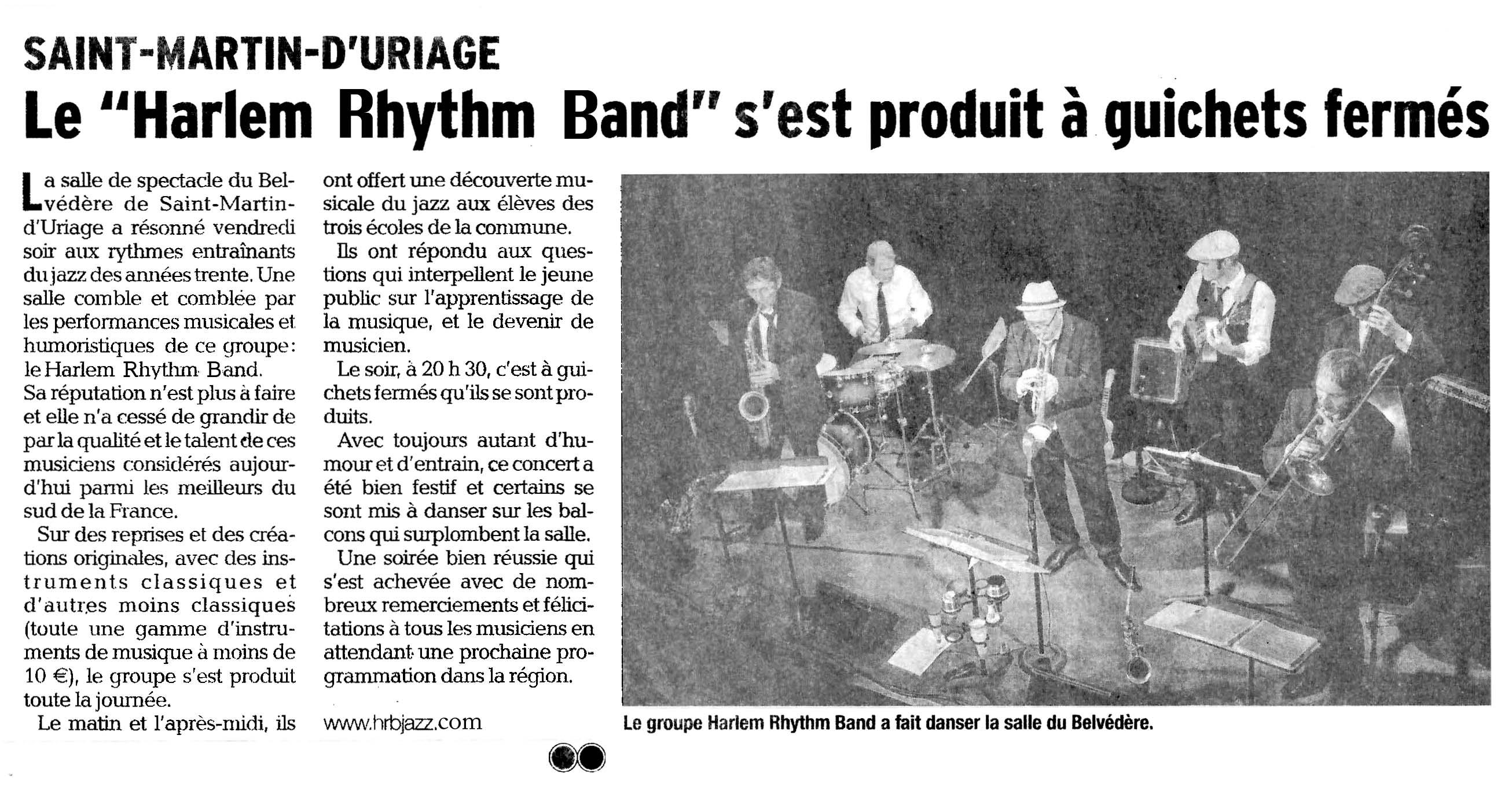 Le «Harlem Rhythm Band» s'est produit à guichets fermés